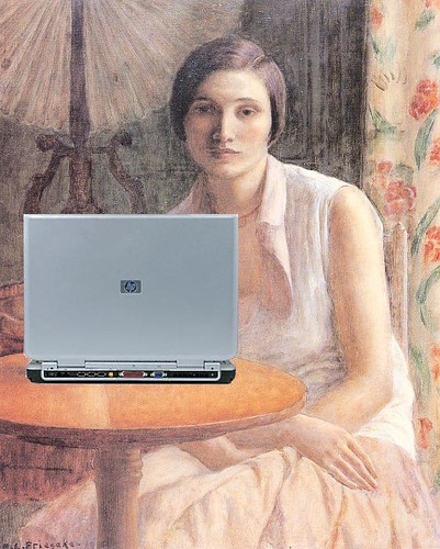 Portrait of a Woman Blogger, after Frede by Mike Licht, NotionsCapital.com, on Flickr
