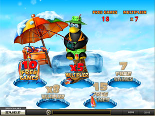 free Penguin Vacation slot bonus game