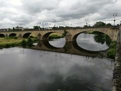 bridge over Loire river in Decize - Fr (gerrygoal2008) Tags: bridge river loire architecture decize france arches archs arcs reflection reflexion mirror