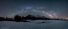 Milky Way - Tioga Pass June 20, 2017 (Marsha Kirschbaum) Tags: starryskies california milkyway a7rii sierramountains stardust tiogapass mountains rokinon14mm meadow panorama landscape starrynight snow