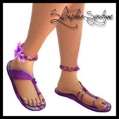 +ADDiCTIA+ Tropica Flip Flops lavender