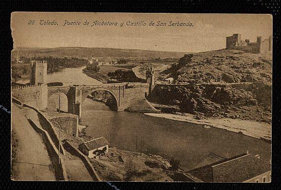 Castillo de San Servando a comienzos del siglo XX. Foto Linares