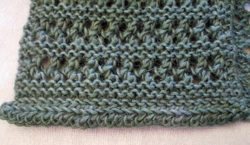 Lime crocheted edge