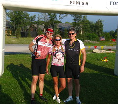 The three of us at the finish