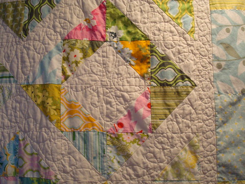 Nicey Jane HST quilt detail 1