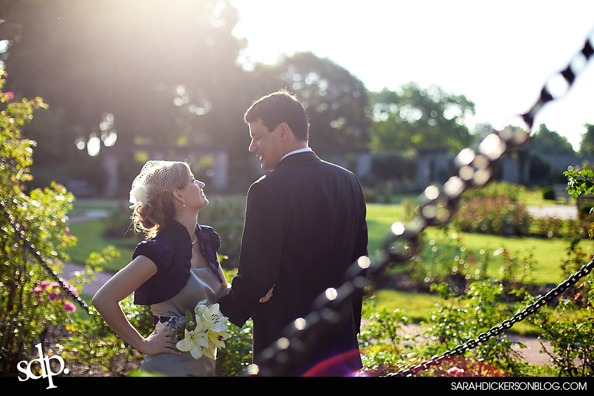Loose Park, Kansas City wedding images