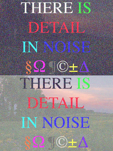 There is Detail in Noise 2