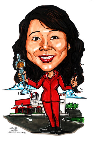 Caricature for Yum ! Asia Franchise Pte Ltd