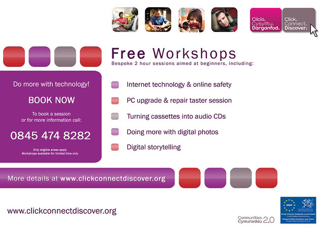 Free Workshops poster by Wales Co-operative Centre