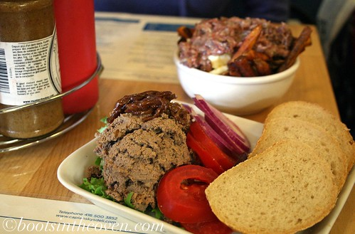 Chopped Liver, with Poutine in the background