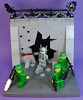 Charging my Light Amplified, Stimulated Emission of Radiation beam (DARKspawn) Tags: classic soldier army robot lego fig space military figure dio minifig vignette bot vig dioram collectableminifigure