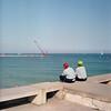 Descansando (bigchus) Tags: barcelona 3 color film beach nc dock natural kodak playa barceloneta epson medium format 88 kiev portra medio moll rollo analogic analógico 160 formato v500 volna muele