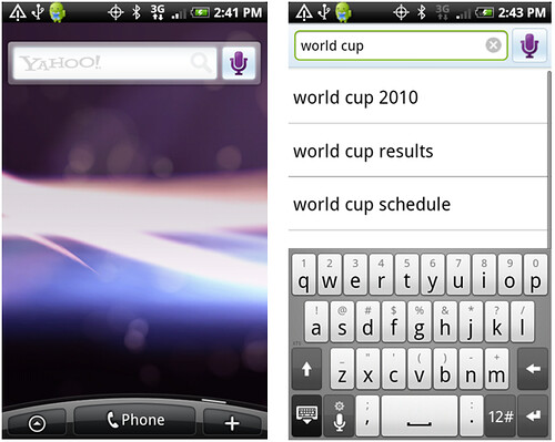 Yahoo! Search Android Widget