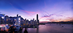 earlier version (songallery) Tags: ocean blue sunset sea panorama skyline night digital skyscraper spectacular landscape hongkong harbor landscapes scenery cityscape purple central wide grand scene glorious sight  brilliant   impressive magichour imposing victoriaharbour cambo      p45  phaseone digitalback 39megapixels highresolutions cambowideds