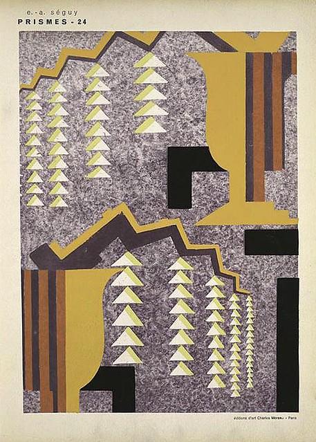 030-Prismes 40 planches de dessins et coloris nouveaux 1931- Eugene Alain Seguy
