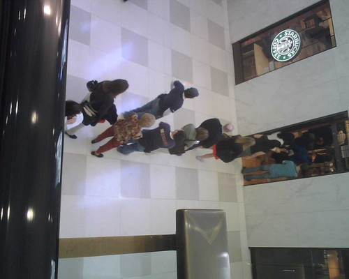 Starbucks coffee line