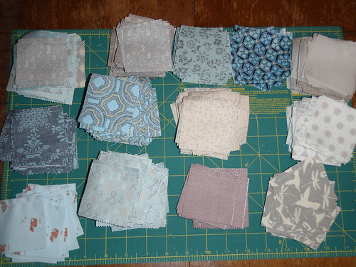 piles of 2.5 inch squares