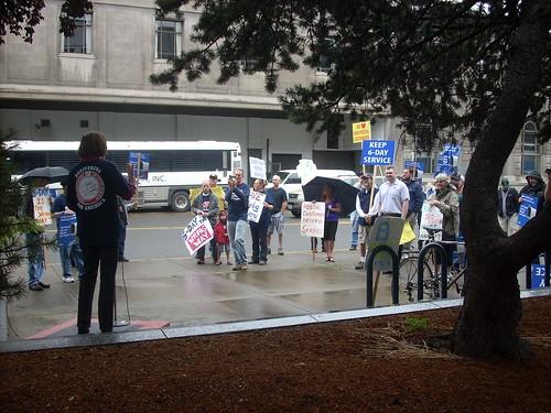 Portland postal worker protest
