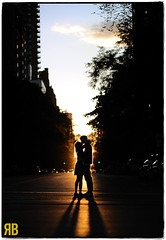 The Streets Aglow (Ryan Brenizer) Tags: wedding sunset woman man love engagement nikon kiss manhattan noflash uppereastside 85mmf14d d3s yorkvillle