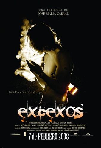 Cartel oficial de Excesos,de José María Cabral