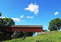 Vaholm covered bridge at Tidan in Sweden #4