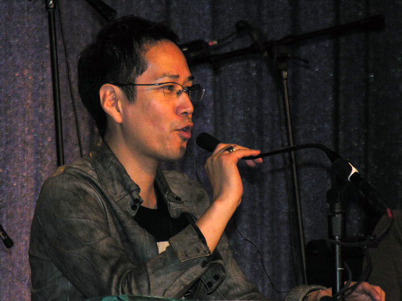 Guest of Honor Kenji Kamiyama at his Q&A panel