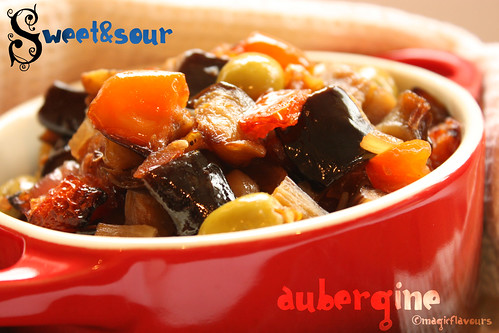 Sweet and Sour Aubergines @ Magic Flavours