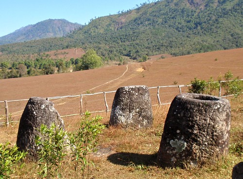 Jars Overlooking Field at Site 3