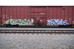 H M (TRUE 2 DEATH) Tags: street railroad streetart art train graffiti tag graf trains railcar much spraypaint boxcar hm railways railfan freight icp revel freighttrain rollingstock ibd benching freighttraingraffiti