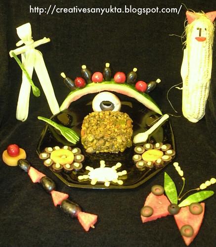 Corn Mushroom Carrot Stir-fry @ Creative Sanyukta