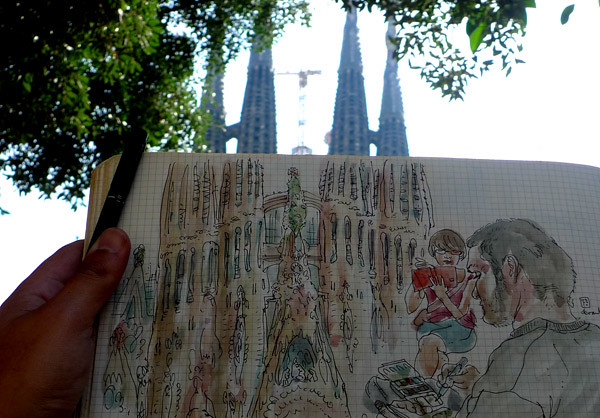 sketching the sagrada familia