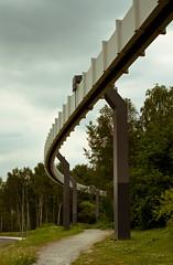 H-Bahn (jpk.) Tags: 2010 campus canoneos7d dortmund ef235mm hbahn hbahntrasse juli ruhrgebiet schwebebahn sommer spaziergang tudortmund eos kopka universität bäume wald weg strase birken grün ©janphilipkopka
