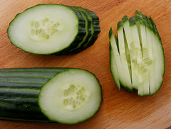 How to cut Cucumber Batons