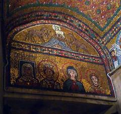 Basilica of Santa Prassede, Zeno Chapel lintel mosaics