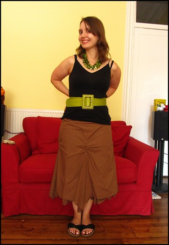 24.6.10: a long skirt and some green