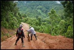 Cake (Mike Hohman) Tags: mountains rain cake thailand mud dirt trail rainy motorcycle backcountry chiangmai dirtbike muddy kawasaki maehongson trailriding slipperywhenwet rainingseason