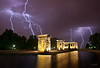 madrid - temple de debod ... with lightning! (sadaiche (Peter Franc)) Tags: madrid temple spain egypt explore lightning frontpage templededebod