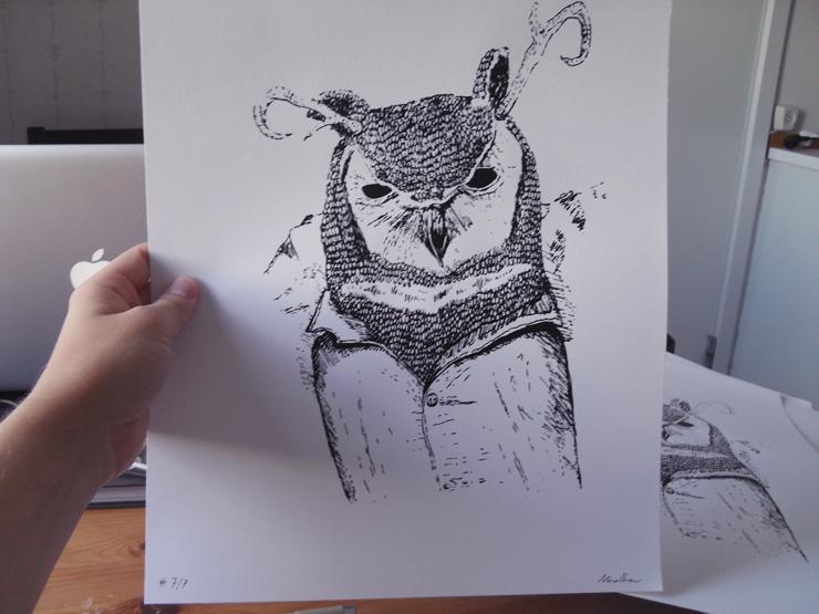 owl paper print