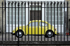 We all live in a... (Sir Cam) Tags: cambridge yellow volkswagen university beetle beatles hr ringostarr yellowsubmarine sircam humanresourcesdivision