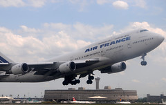 Dcollage d'un B747 d'Air France  l'aroport de Roissy  Paris (Citizen59) Tags: paris france airport air takeoff 747 jumbo roissy cdg dcollage aroport boieng