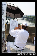 Street Artist on Charles Bridge