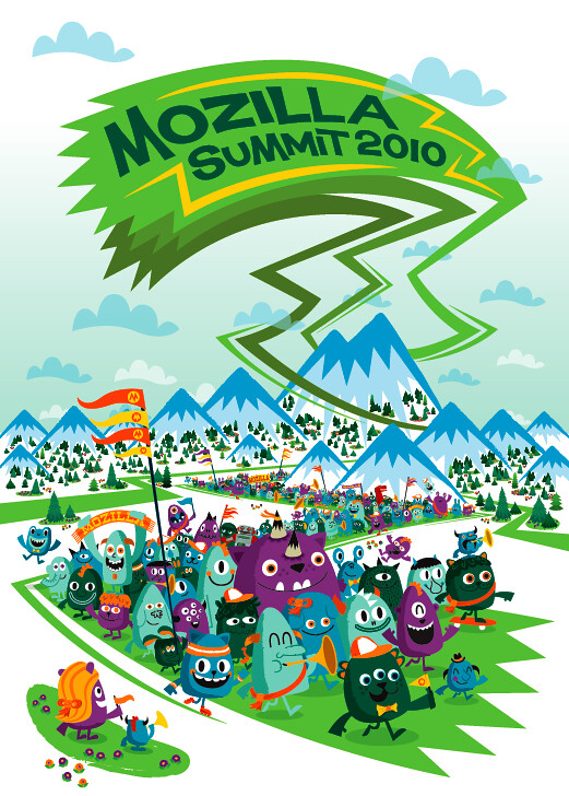 Mozilla Summit 2010 Visual Identity Poster