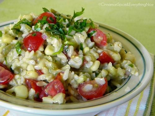 Southwest Rice Salad with Lemon Dressing