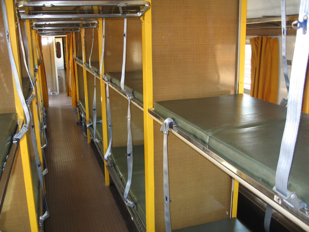 Carriage for stretchers - charter train in France
