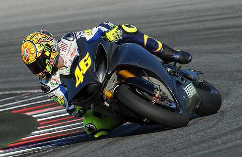 Valentino Rossi - Test ride in Misano