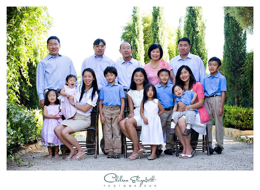 Santa Barbara Private Estate extended family portrait