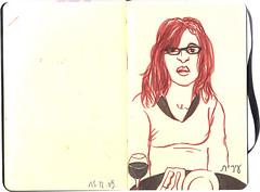 Irit in Tel Aviv (Aurore Vigne) Tags: moleskine book israel sketch tel aviv