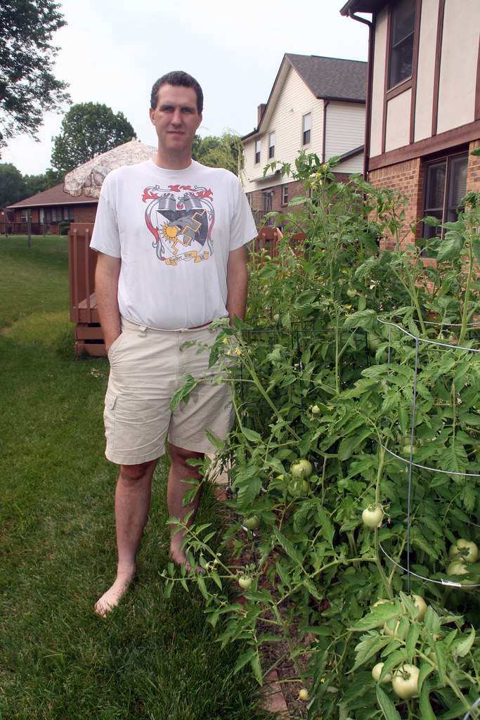 John and the tomato plants