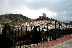 Blick auf Velez Blanco mit dem Castillo, Andalusien