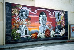 Los Angeles, California - USA (1992) (Mic V.) Tags: california street usa art rio wall del america painting mexico star us los mural artist boulevard angeles films united hollywood actress movies hudson states latina lopez avenue dolores unis negrete amrique etats amerique tats asunsolo